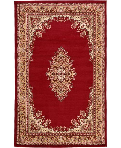 Bridgeport Home Birsu Bir1 Burgundy Area Rug Collection