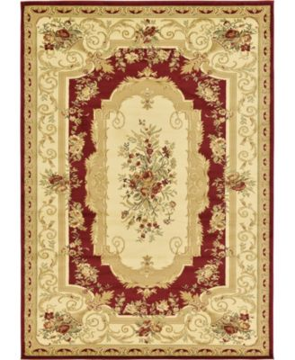 Belvoir Blv3 Red 8' x 8' Square Area Rug