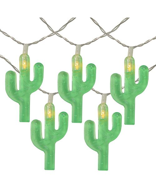 Northlight Battery Operated Cactus Summer LED String lights