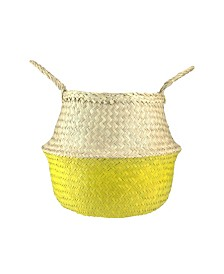 Northlight Large Seagrass Belly Basket with Handles