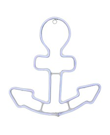 Northlight Neon Style LED Lighted Anchor Window Silhouette Decoration
