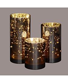 Set of 3 Decorative Galaxy Night LED Lighted Glass Jars