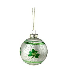 Northlight Mercury Glass Shamrock Christmas Ornament