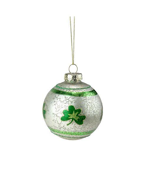 Northlight Mercury Glass Shamrock Christmas Ornament
