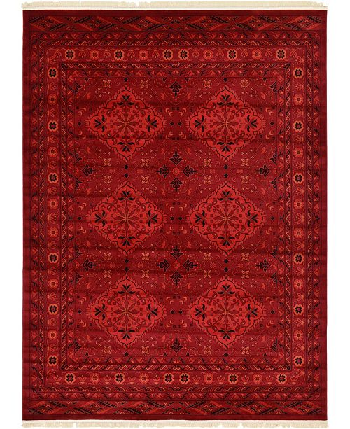 Bridgeport Home Vivaan Viv1 Red Area Rug Collection