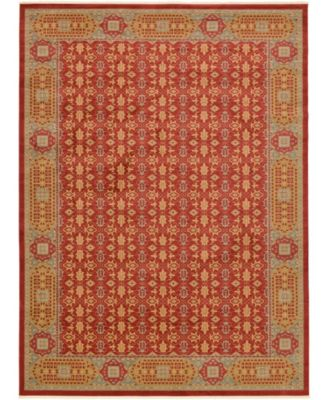 Wilder Wld7 Red 6' x 6' Round Area Rug