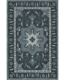 Torrey Tor4 Slate Area Rugs Collection