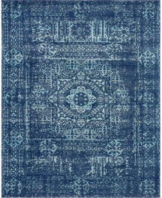 Wisdom Wis3 Navy Blue 8' x 10' Area Rug