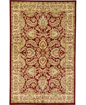 Passage Psg9 Red 6' x 6' Square Area Rug