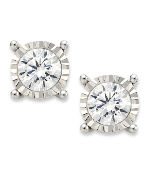 TruMiracle Diamond Stud Earrings in 14k White Gold (1 ct. t.w.)