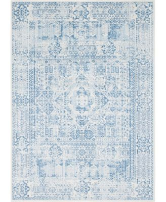 Zilla Zil3 Light Blue 8' x 8' Square Area Rug