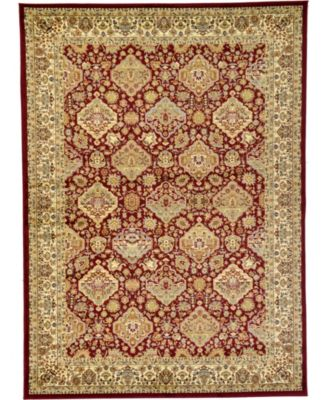 Passage Psg7 Red 4' x 4' Square Area Rug