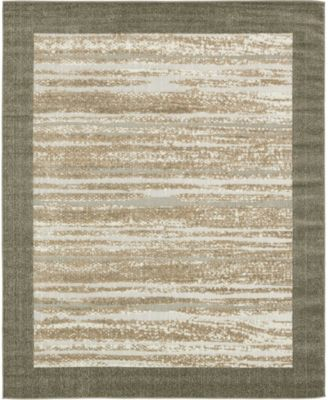 Pashio Pas4 Brown 2' x 6' Runner Area Rug