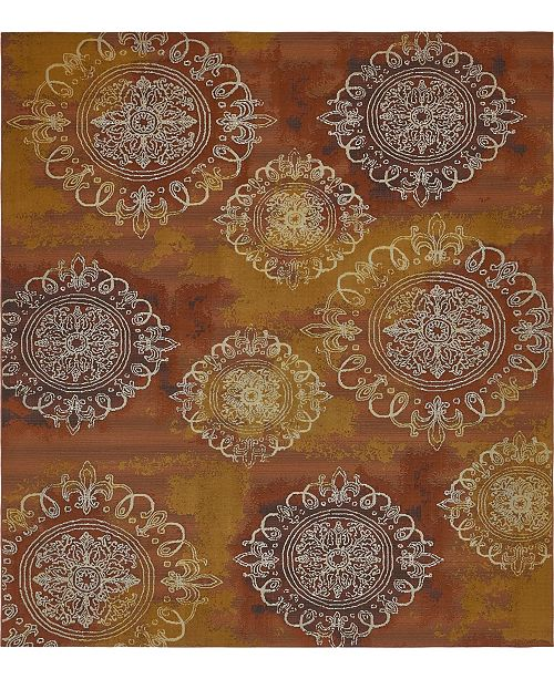 Bridgeport Home Pashio Pas2 Rust Red Area Rug Collection