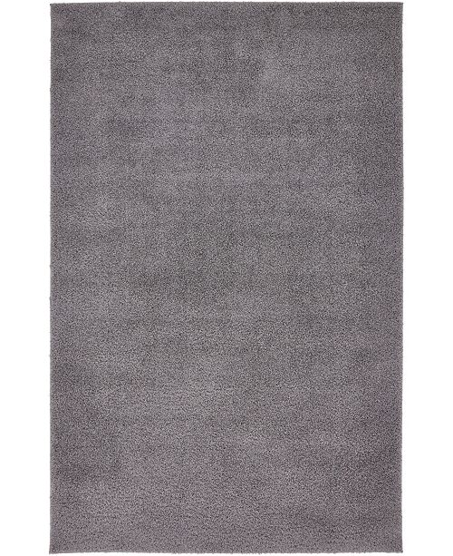 Bridgeport Home Salon Solid Shag Sss1 Dark Gray Area Rug Collection