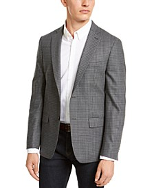 Men's Classic-Fit Houndstooth Sport Coat