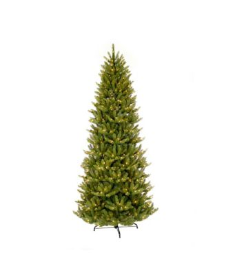 Puleo International 10 ft Pre-lit Slim Franklin Fir Artificial Christmas Tree 900 UL listed Clear Lights