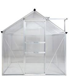 Upperbounce Aluminium Greenhouse Walk-In 6' X 4' with Sliding Door and Adjustable Roof Vent