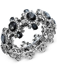 Silver-Tone Crystal Stretch Bracelet, Created For Macy's
