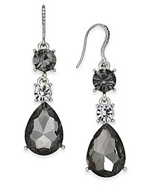 Silver-Tone Crystal & Stone Drop Earrings, Created For Macy's