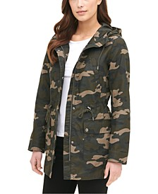 Printed Cotton Hooded Jacket