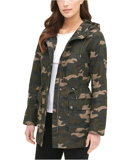 Levi's Printed Cotton Hooded Jacket