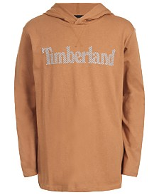 Timberland Big Boys Barnstead Wheat Hooded Logo T-Shirt