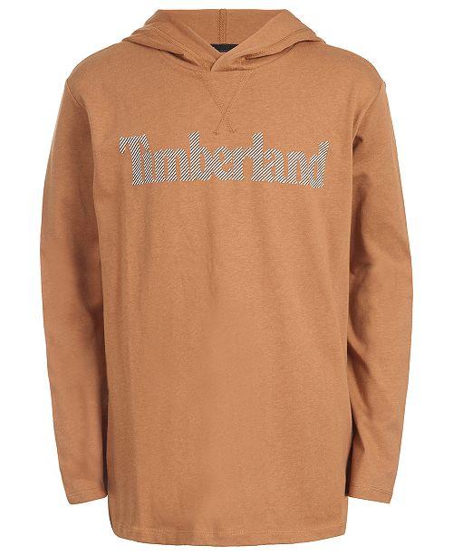 Timberland Big Boys Barnstead Wheat Hooded Logo T-Shirt
