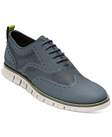 Men's ZeroGrand No Stitch Wingtip Oxfords