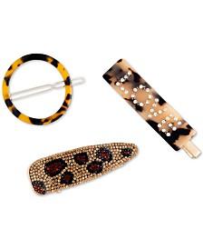 twelveNYC 3-Pc. Leopard Clip Set