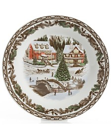 Gibson Christmas Toile 16-pc Dinnerware Set