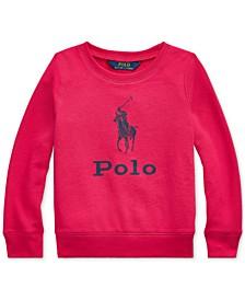 Toddler Girls Atlantic Terry Logo Sweatshirt