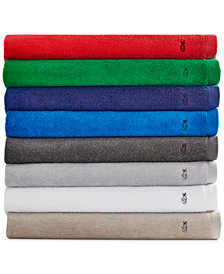 CLOSEOUT! Lacoste Ace Cotton Bath Towel Collection