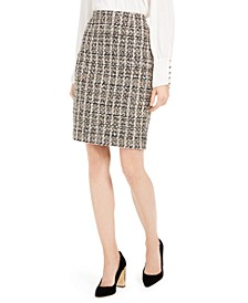Sequined Tweed Skirt