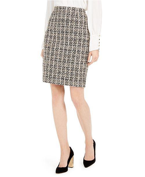 Calvin Klein Sequined Tweed Skirt