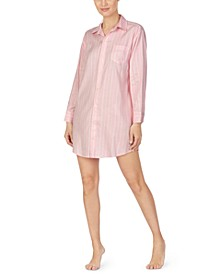 Striped Logo-Print Sleepshirt