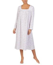 Eileen West Cotton Ballet Floral-Print Nightgown