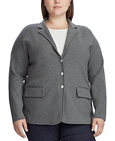 Plus Size Sweater Knit Blazer