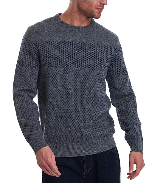 Barbour Men's Ridge Crew Printblocked Sweater