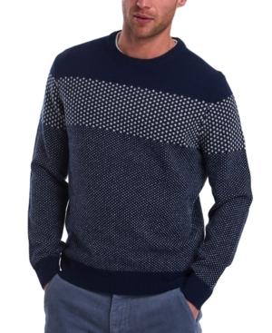 Barbour Sweaters MEN'S RIDGE CREW PRINTBLOCKED SWEATER