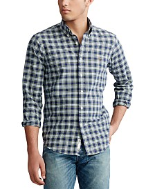 Polo Ralph Lauren Men's Big & Tall Classic Fit Plaid Oxford Shirt