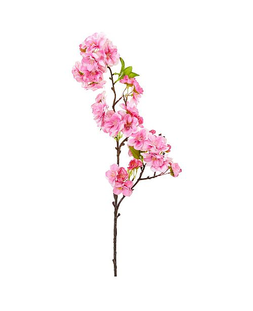 """Nearly Natural 18"""" Cherry Blossom Artificial Flower Spray, Set of 12"""
