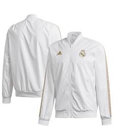 adidas Men's Real Madrid Club Soccer Team Anthem Zip-Up Jacket
