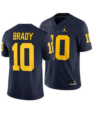 tom brady michigan jersey stitched