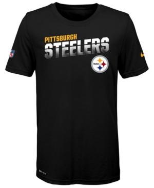 Nike Big Boys Pittsburgh Steelers Sideline T-Shirt