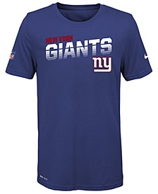Big Boys New York Giants Sideline T-Shirt