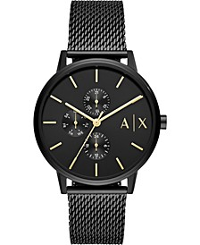 Men's Cayde Black Stainless Steel Mesh Bracelet Watch 42mm