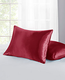 Home Design Standard/Queen 2-Pc. Satin Pillow Protector Set, Created for Macy's