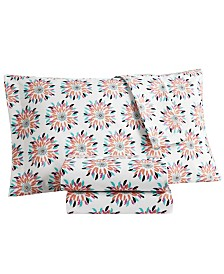 Wild and Free Queen Printed 4 Piece Sheet set