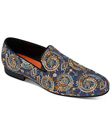 Men's Quinzio Embroidered Paisley Smoking Loafers